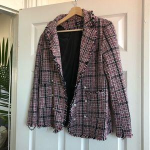 Jackets & Coats - Tweed blazer with pearl buttons